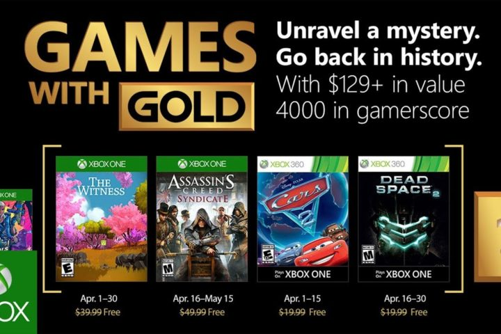 Xbox One: Games with Gold April 2018