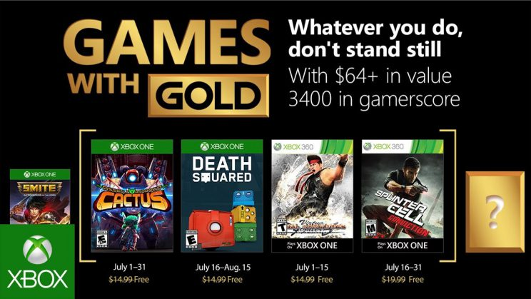 Xbox One: Games with Gold Juli 2018