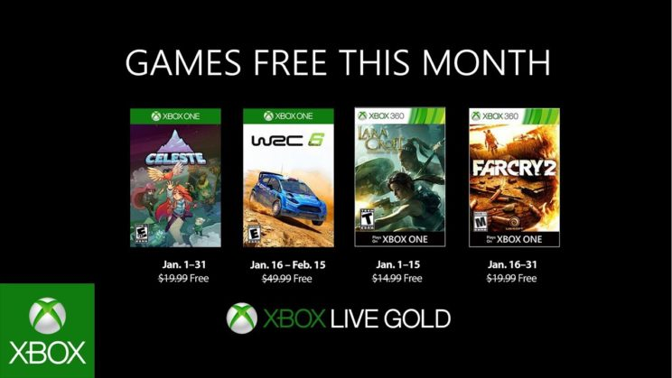 Xbox One: Games with Gold Januar 2019