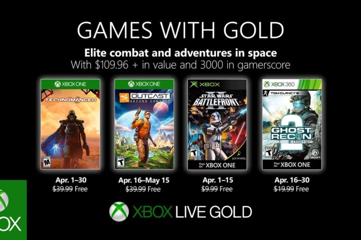 Xbox One: Games with Gold April 2019
