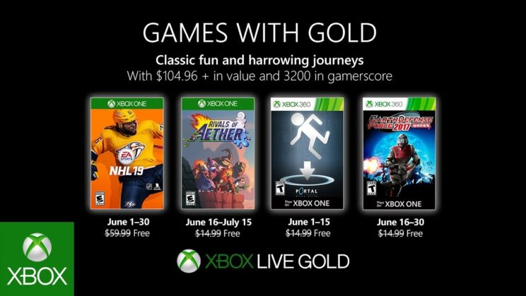 Xbox One: Games with Gold Juni 2019
