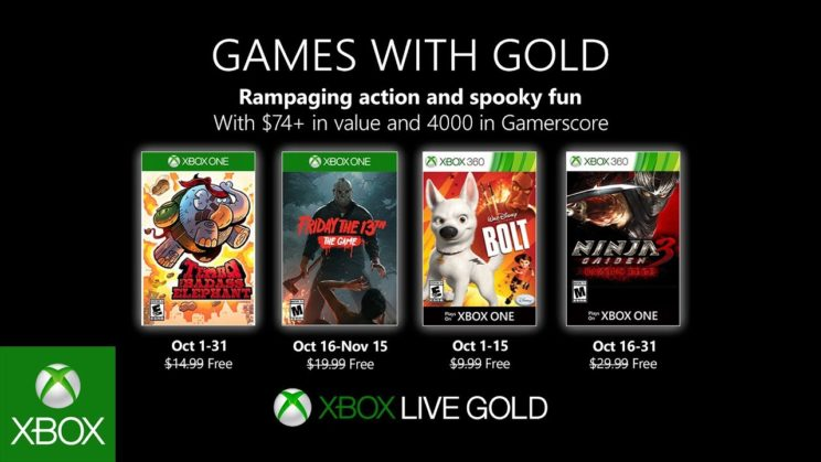 Xbox One: Games with Gold Oktober 2019