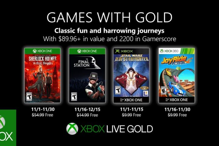 Xbox One: Games with Gold November 2019