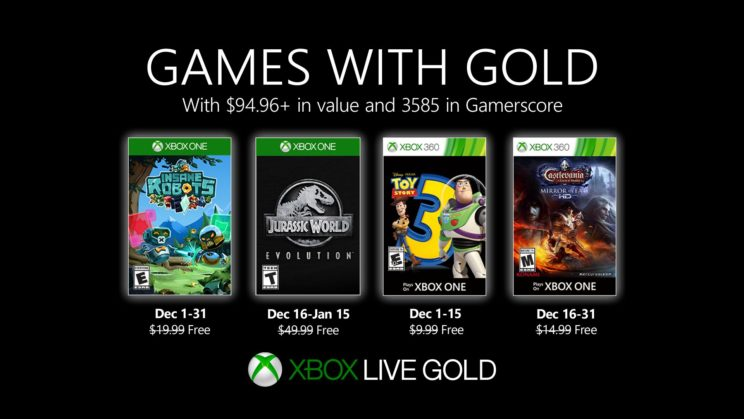 Xbox One: Games with Gold Dezember 2019