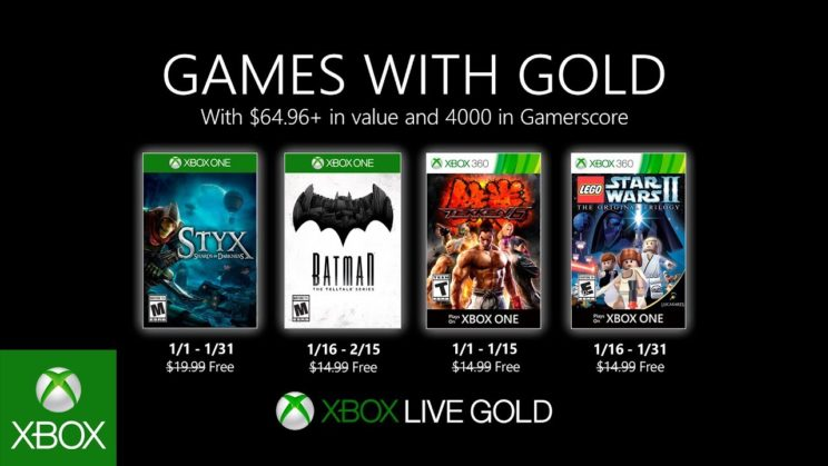 Xbox One: Games with Gold Januar 2020