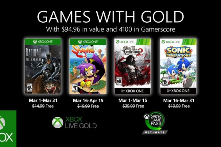 Xbox One: Games with Gold März 2020