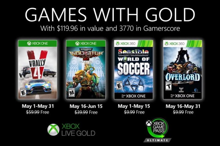 Xbox One: Games with Gold Mai 2020