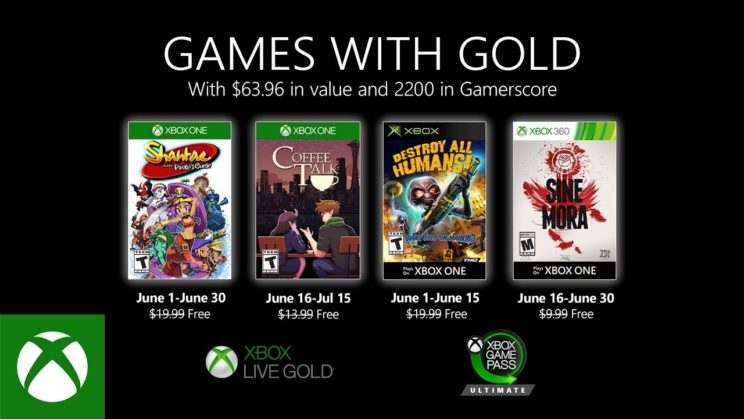 Xbox One: Games with Gold Juni 2020