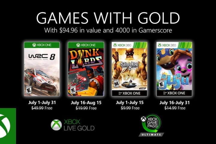 Xbox One: Games with Gold Juli 2020
