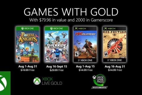 Xbox One: Games with Gold August 2020