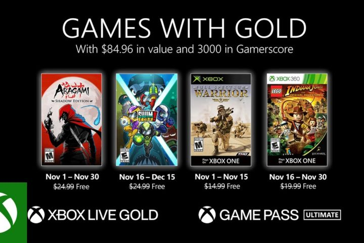 Xbox One: Games with Gold November 2020
