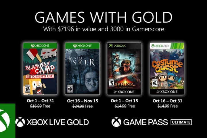 Xbox One: Games with Gold Oktober 2020