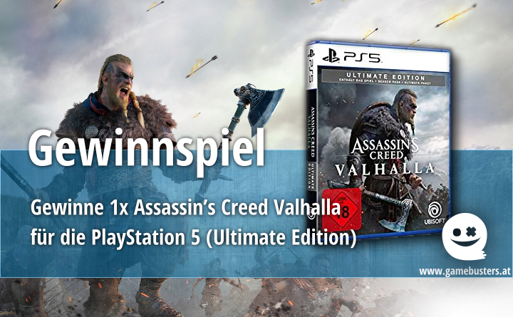 "Wir verlosen einmal die PlayStation 5 Version von ""Assassin's Creed Valhalla"""
