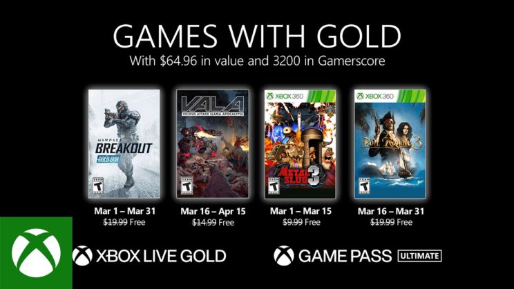 Xbox One: Games with Gold März 2021