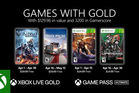 Xbox One: Games with Gold April 2021