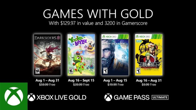 Xbox One: Games with Gold August 2021